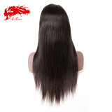 Virgin 150% Density Brazilian Straight 13x4 Lace Front Wig Natural Black Color Wig 8 -26 inches Virgin Hair Wig Best Human Hair Wigs