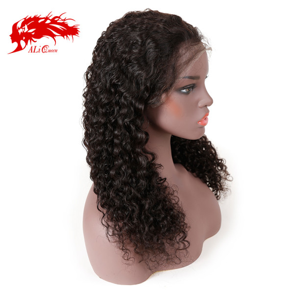 Brazilian Water Wave 13x4 Pre Plucked Lace Front Wig Natural Black Virgin 150% Density Human Hair Wigs 8 -26 Inches Lace Wig