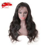 Full Lace Human Hair Wigs 10-26 inches Brazilian Body Wave Natural Color Wig Ali Queen Hair 130% 150% Density