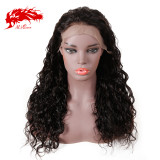 Natural Black 10-24 inches Ali Queen Remy 150% Density Human Hair Wigs Pre-Plucked Lace Wigs Natural Wave 13x4 13x6 Lace Front Wig For Women