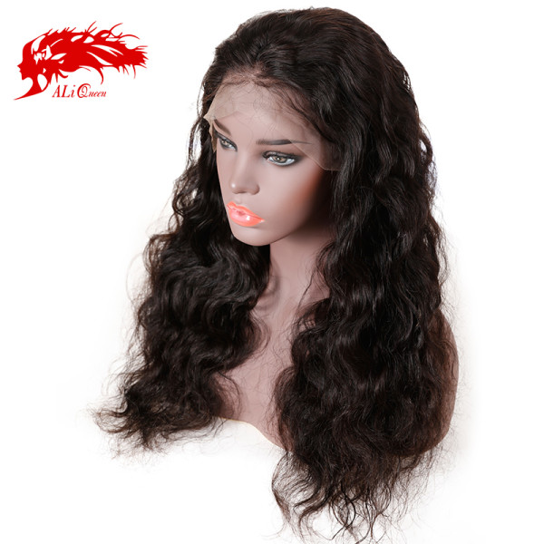 Virgin 150% Density Brazilian Body Wave 13x4 Lace Front Wig Pre Plucked Lace Wig Natural Black Human Hair Wigs