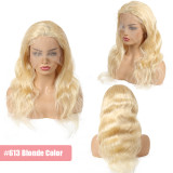 Pre Plucked 130% 150% Denisty 613# Brazilian Human Hair Body Wave Full Lace Wigs Lace Wigs Ali Queen Hair