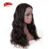 Natural Pre Plucked Hairline With Baby Hair Ali Queen Brazilian Remy Human Hair Wigs 360 Lace Frontal Wig Body Wave 180% Density