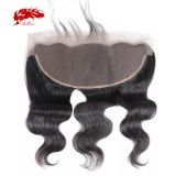 Swiss Lace Brazilian Body Wave 13x6 Lace Frontal Ear To Ear Pre Plucked With Baby Hair High Quality Human Hair  Ali Queen Hair Free Part