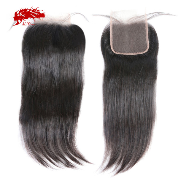 5x5 Swiss Lace Closure Pre-Plucked With Baby Hair 10~20inches Free Part Brazilian Remy Straight Hair Closure