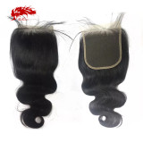 5x5 Swiss Lace Closure Body Wave Pre-Plucked With Baby Hair 10-20 Inches Brazilian Remy Human Hair Closure