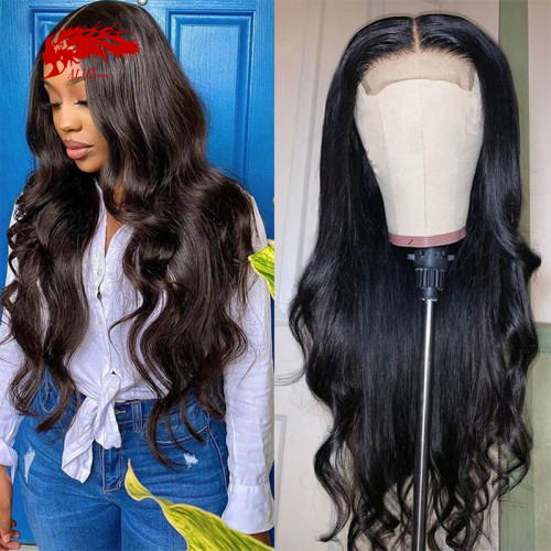 Remy Brazilian Body wave 13x4 13x6 Lace Front Wig Natural Black Color Wig 10 -24 inches Virgin Remy Hair Wig Best Human Hair Wigs