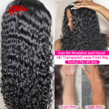 Brazilian Water Wave 13x4 13x6 Pre Plucked Lace Front Wig Natural Black Virgin Remy 130% 150% Density Human Hair Wigs 10-24 Inches Lace Wig