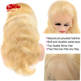 13x4 13x6 Virgin Remy Hair Wigs Body Wave Lace Front Wig 613# Blonde Hair Wig Human Hair Wigs 150 Density