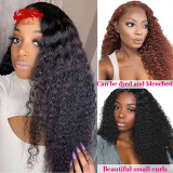 13x4 13x6 Lace Front Wig Natural Black Lace Frontal Wig Remy 130% 150% Density Brazilian Kinky Curly Human Hair Wigs For Women