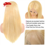 13x4 13x6 Remy Straight Hair Wigs Lace Front 613# Blonde Hair Wig Human Hair Wigs 150 Density