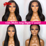 Lace Front Wig Natural Black Lace Frontal Wig Remy 130% 150% Density Brazilian 13x4 13x6 Kinky Straight Human Hair Wigs For Women