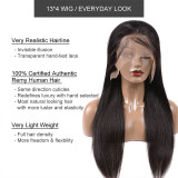130% 150% Brazilian Straight 4x4 5x5 Lace Closure Wig Natural Black Color Wig 10 -30 inches Virgin Remy Hair Wig Best Human Hair Wigs