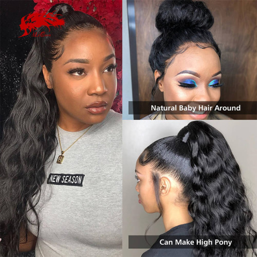 130% 150% Brazilian Body Wave 4x4 5x5 Lace Closure Wig Natural Black Color Wig 10 -30 inches Virgin Remy Lace Frontal Human Hair Wig