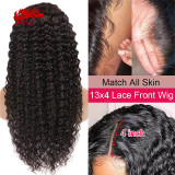 130% 150% Brazilian Deep Wave 4x4 5x5 Lace Closure Wig Natural Black Color Wig 10 -30 inches Virgin Remy Hair Wig Best Human Hair Wigs