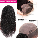 130% 150% Brazilian Water Wave 4x4 5x5 Lace Closure Wig Natural Black Color Wig 10 -30 inches Virgin Remy Hair Wig Best Human Hair Wigs