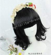 Sweet Black Face Framing Lolita Wig