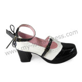 New Arrival Black White Elegant Girls Shoes