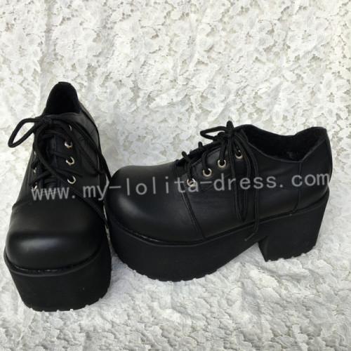 Gothic Black Lolita Heels Shoes with Platform