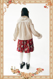 Warm Milk Tea~Lolita Long Sleeves Blouse-Special Price