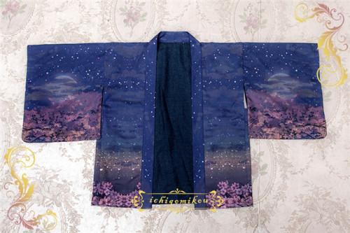 IchigoMiko ~Night Sakura Krathong~ Lolita Haori/Kimono -Pre-order
