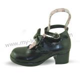 Black Bow Lolita Shoes