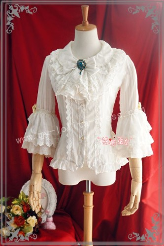 Sweet Babydoll Collar White Lolita Blouse