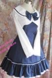 College Style Navy Blue Lolita Jumper Dress  + Mini-Coat Set