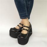 Double Straps Lolita Shoes
