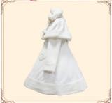 Lolita Princess Winter Heart Coat&Cape Black Bust: 150cm, Waist: 120cm In Stock