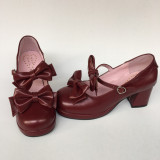 Sweet Chocolate Lolita Heels Shoes