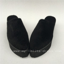 Black High Platform Sandals Lolita Shoes