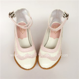 Pink With White Glossy Lolita High Platform
