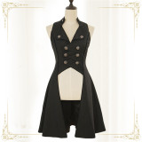 Immortal Thorn ~The Song of The Eternal Moonlit Night~ Vintage Ouji Long Vest -Ready MADE