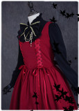 lolita Red Wine Gift~ Sweet Unicolor Lolita Jumper Dress