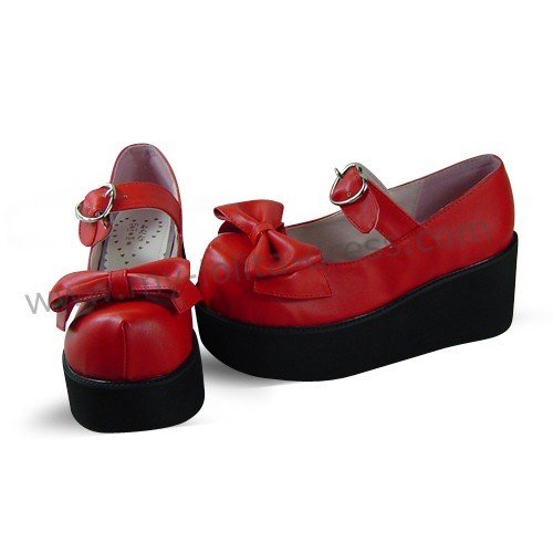 Red Patent Leather Lolita Shoes