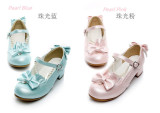 Cinderella~ Sweet Bow Beadchain Lolita Shoes