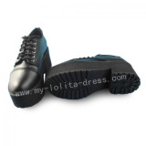 Black Gothic Square Heels Lolita Shoes