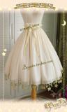 Boguta Lolita~ Stars Theme Lolita Petticoat/Skirt Dailywear Version Beige 60cm - In Stock