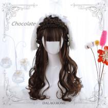 The little silver ~60cm Long Curls Lolita Wig