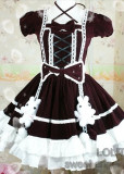 (Replica) Dream of Lolita Childhood Memory Bunny Dress Wine L&XXL - Free Shipping