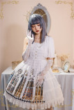 The Holy Cross~Side Open Birdcage Gothic Lolita JSK + Mantilla -Ready Made