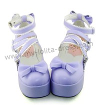 Purple Bow Straps Lolita Platform Shoes