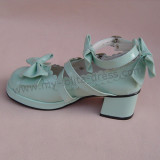 Beautiful Claret Matte Bows Lolita Shoes White Matte Europe Size 45 In Stock