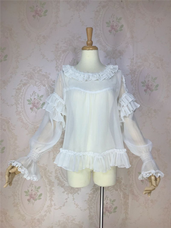 Sweet Transparent Chiffon Inner Blouse