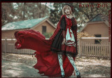 The Wolf Turns Little Red Riding Hood~ Lolita Fullset (OP+Scarf + Apron+Cape+Headbow) -Ready Made