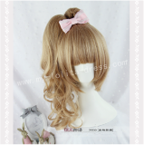 Sweet Burly Wood Face Framing Double Ponytails Curls Lolita Wig