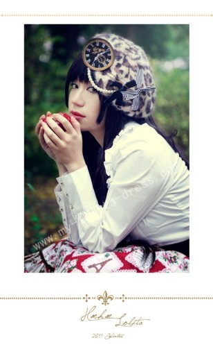 Beads Belt Lolita Beret 2 Colors
