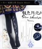 Silver Moonlight- Lolita Tights