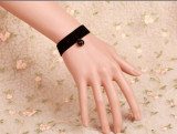 Simple Black Lace Bead Pendant Lolita Bracelet-OUT